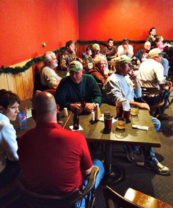 (photo by Terry Thomsen): #1b-After a day of fishing, IGLFC members enjoyed a meal and program at McKeen's Pub