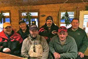 The Northwest Angle gang! (L to R) Curt Weisman, Steve Weisman, Michael Burris, Big Mike, Doug Sutton and Bob Switzer.