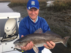 The author with another redfish.