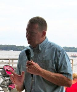 (photo by Steve Weisman) Joe McGovern, president of the Iowa Natural Heritage Foundation, will serve as moderator for the panel discussion on clean water during the Okoboji Blue Water Festival.