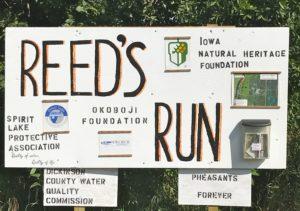 #2b-Reeds Run sign