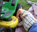 repairing the riding lawn mower #2